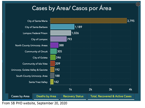 COVID Cases by Area