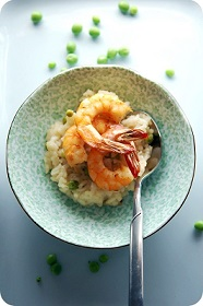 risotto-with-peas-prawns
